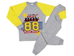 DL001/158M-102-2 пижама для мальчиков, серая