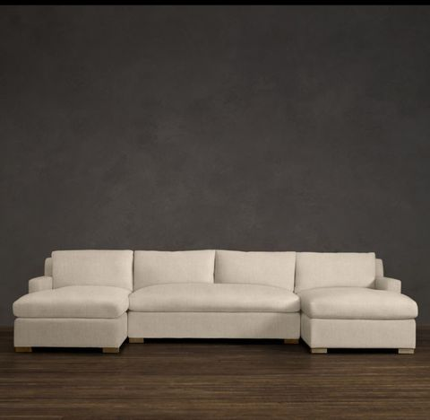 Belgian Track Arm U-Chaise Sectional