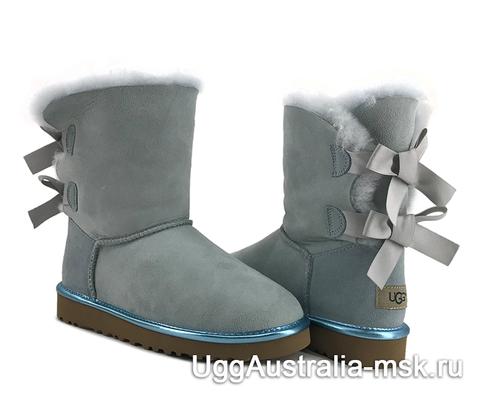 UGG Bailey Bow II Metallic Blue