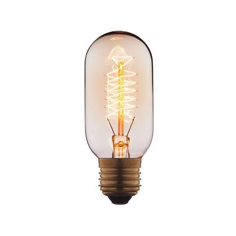 Лампа накаливания E27 40W цилиндр прозрачный 4540-S