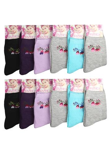 NOE006 носки женские цветные 36-42 (12шт)