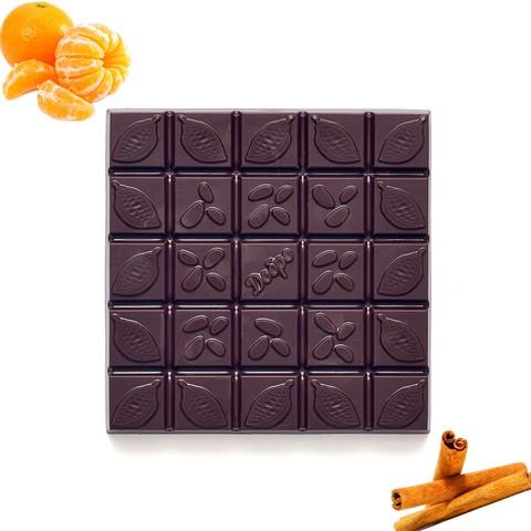С мандарином и корицей, 72% какао, 90 г