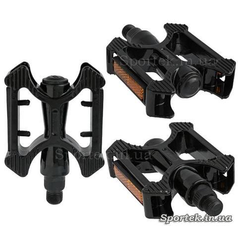 Черные алюминиевые прогулочные педали