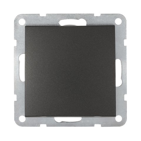 Выключатель одноклавишный, (схема 1) 16 A, 250 В~. Цвет Чёрный бархат. LK Studio LK60 (ЛК Студио ЛК60). 860108