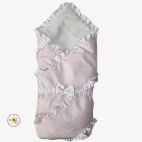 Конверт одеяло для новорожденных Бизе розовый