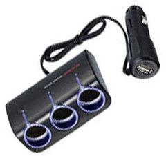 Разветвитель на 3 гнезда с USB EM-67