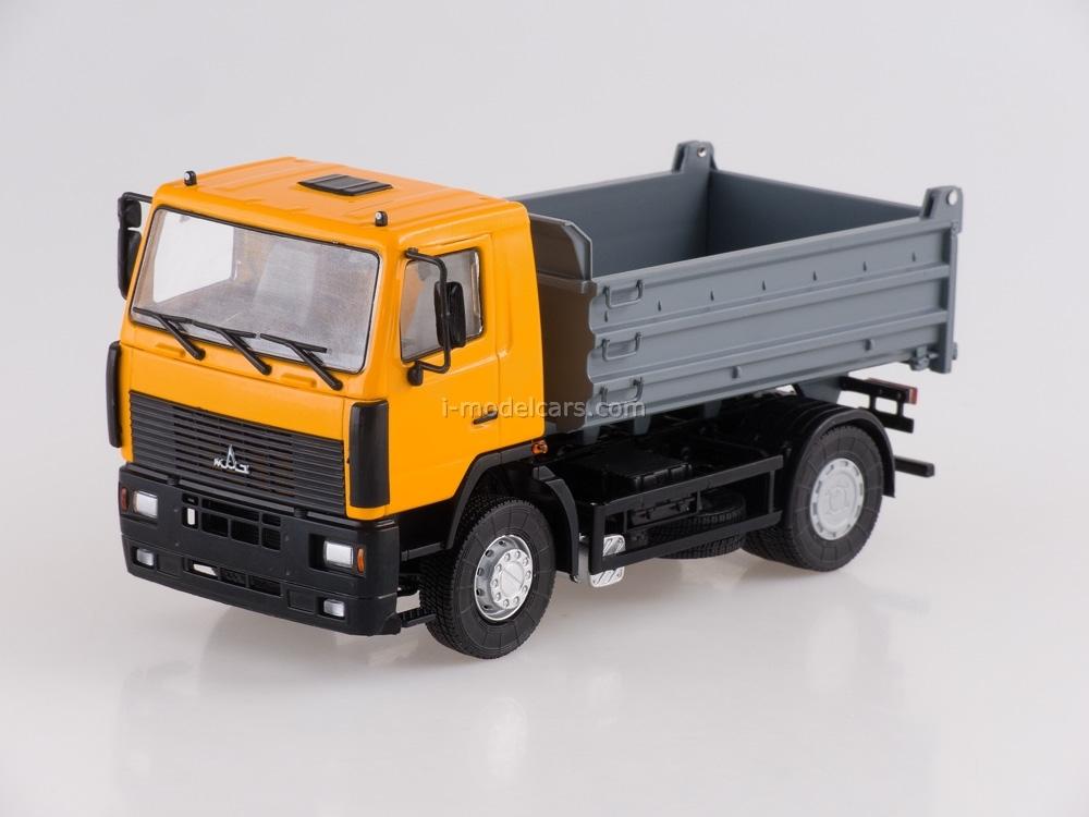 MAZ-5550 tipper orange-gray 1:43 AutoHistory