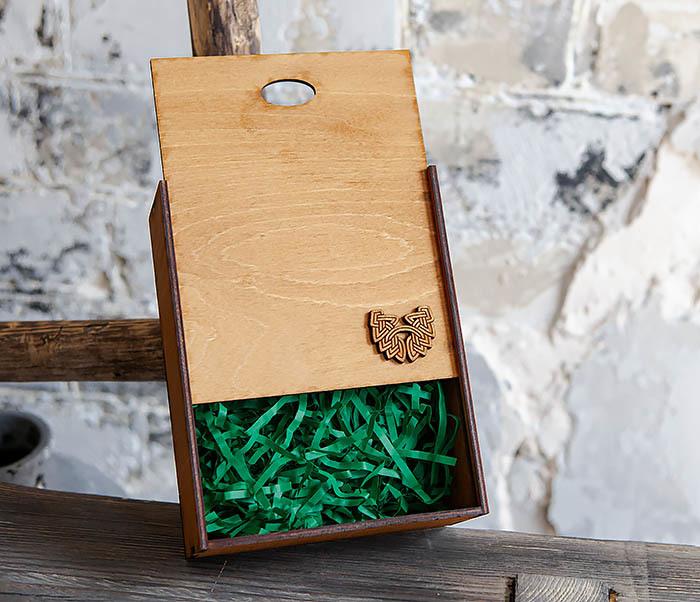 BOX231-2 Подарочная коробка формата А6 из дерева (19*15*6 см) фото 06