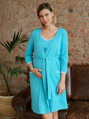 Евромама. Комплект для беременных и кормящих с рукавами 3/4, бирюзовый вид 2