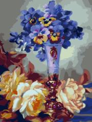 Летние цветы- раскраски  по номерам