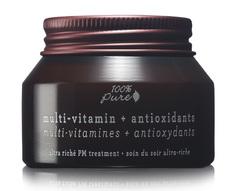 Ночной крем для лица с поливитаминами и антиоксидантами (комплексный витаминный уход), 100% Pure