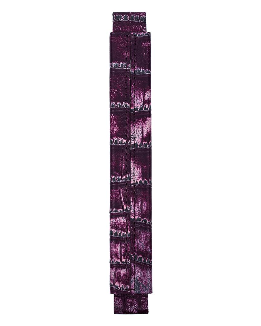 Сменная ручка из кожи с фактурой крокодила цвета цикламен