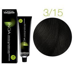 L'Oreal Professionnel INOA 3.15 (Очень темный шатен пепельно-красный) - Краска для волос