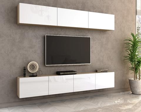 Гостиная модульная ЛИЯ-3 дуб сонома / белый глянец
