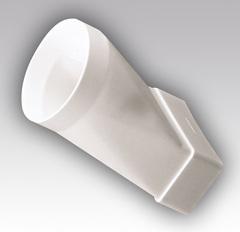 Соединитель прямой 120х60/100 мм пластиковый