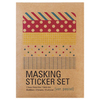 Masking Sticker set Pastel (kraft)