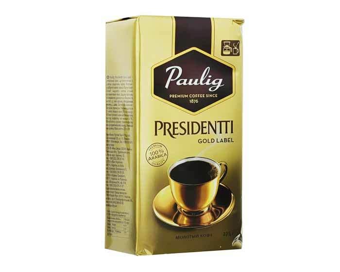Кофе молотый Paulig Presidentti Gold Label, 250 г (Паулиг)