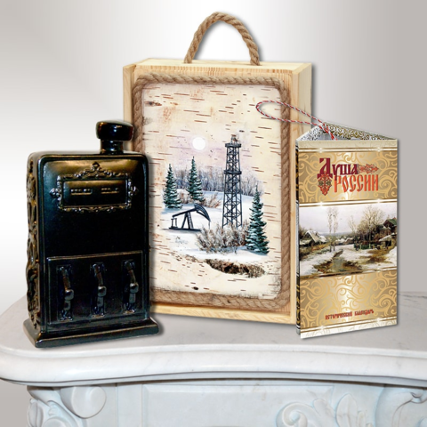 Подарочный набор нефтянику (штоф-бензоколонка)