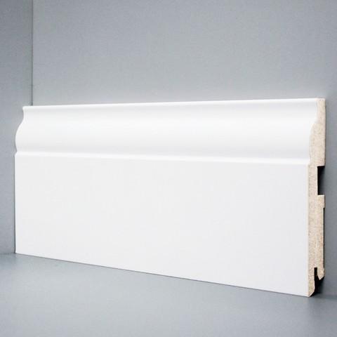 Белый ламинированный плинтус DEARTIO U103-120