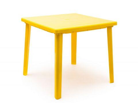 Стол квадратный. Цвет: Желтый