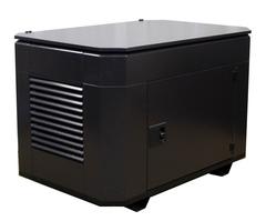 Домик для генератора SB1200DM вид сбоку ral 8019