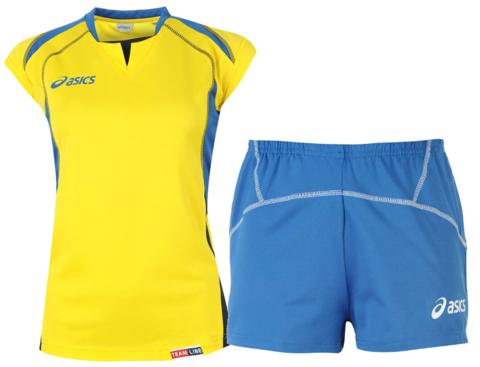 Форма волейбольная Asics Set Olympic Lady женская желтая