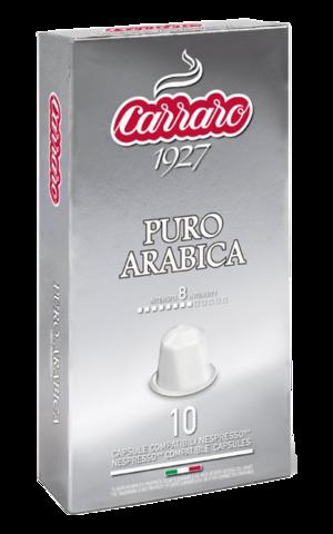 Капсулы Carraro Puro Arabica системы Nespresso, 10 шт
