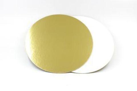 Подложка усиленная двухсторонняя, 3,2 мм (золото/жемчуг), диаметр 26 см