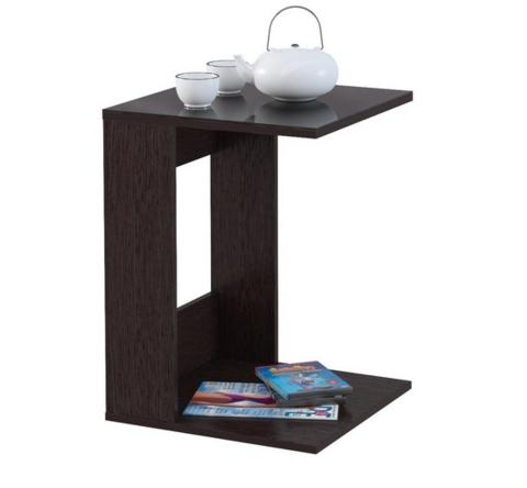 Стол приставной Mayer 1 венге/стекло черное