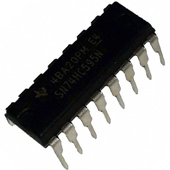 Последовательный сдвиговый регистр 74HC595