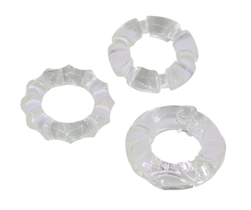 Эрекционные кольца: Набор прозрачных эрекционных колец