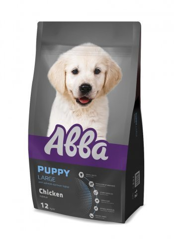 Abba Premium Корм сухой для щенков крупных пород c курица 12 кг