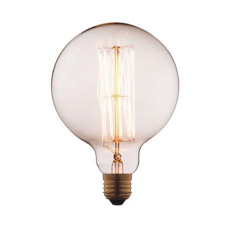 Лампа накаливания E27 40W шар прозрачный G12540