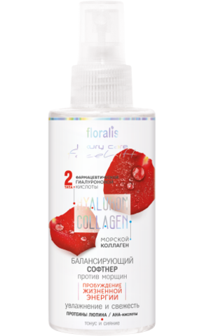 Floralis Hyaluron Collagen Балансирующий софтнер для лица и шеи 150г