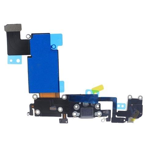 Шлейф для iPhone 6S Plus на системный разъем/разъем гарнитуры/микрофон Серый