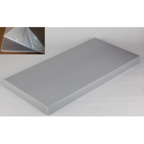 негорючая  акустическая панель ECHOTON FIREPROOF 100x50x7cm  из материала  BASOTECT серый с адгезивным слоем