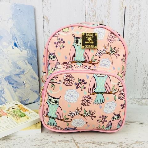 Детский милый рюкзак для девочки Совы розовый