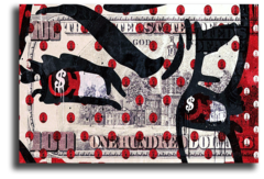 """Постер """"Доллар красный взгляд"""""""