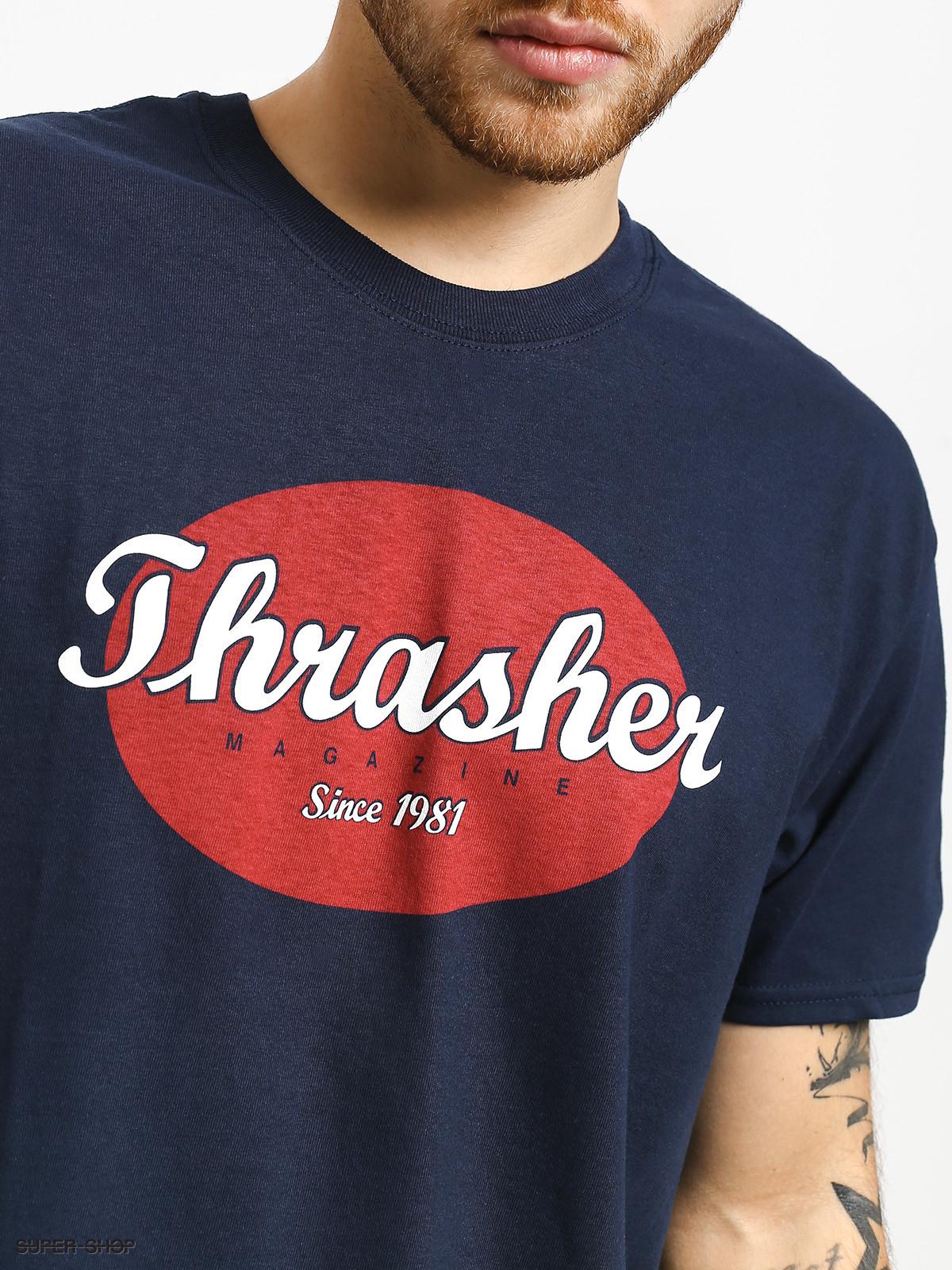 Футболка THRASHER Oval (Navy Blue)