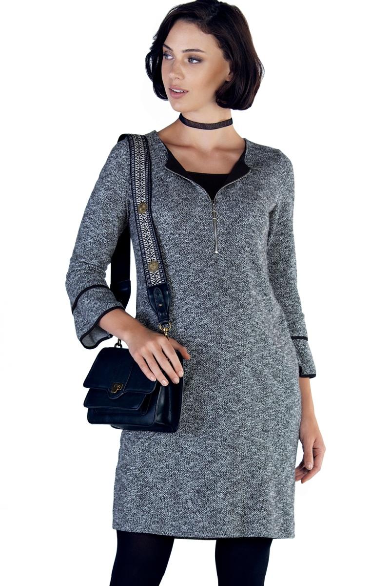 Платье 09888 серый