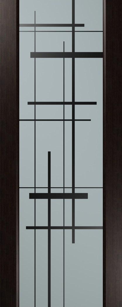 Дверь межкомнатная Россич,Вега ,(рис. с 2х сторон), Цвета: Черный дуб