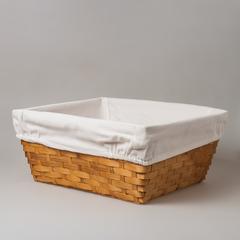 Кашпо плетеное с тканевой подложкой