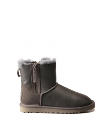 UGG Double Zip Metallic Grey