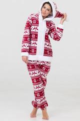 """Пижама-кигуруми Футужама """"Санта"""" красный с оленями"""