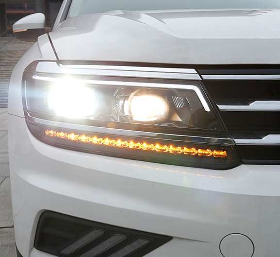 Передняя оптика LED LONGDING LIGHT для Volkswagen Tiguan 2017 - car styling daytime running light 2009 for toyota rav4 led fog light auto angel eye fog lamp led drl high