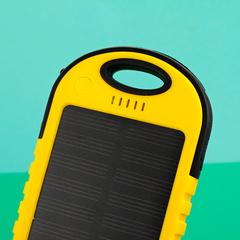 Портативный аккумулятор 10000мАч с солнечной батареей