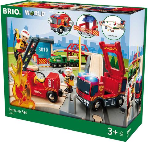 """BRIO 33817 """"Пожарная команда спасателей"""" 30 элементов (свет, звук)"""