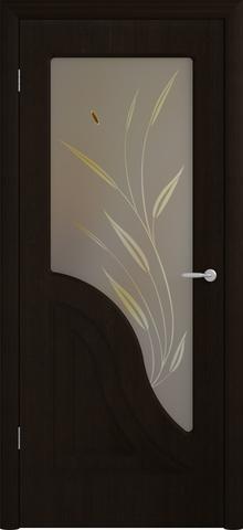 Дверь Фрегат Флоренция, художественное с фьюзингом, цвет венге, остекленная