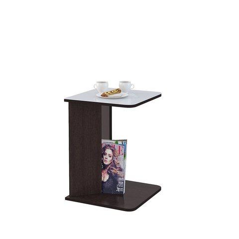 Стол приставной Mayer 5 венге/стекло белое