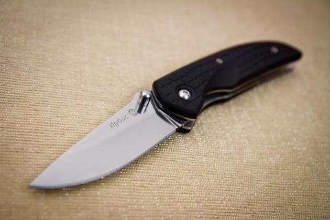 Складной нож Ирбис Черный Эластрон Х12МФ